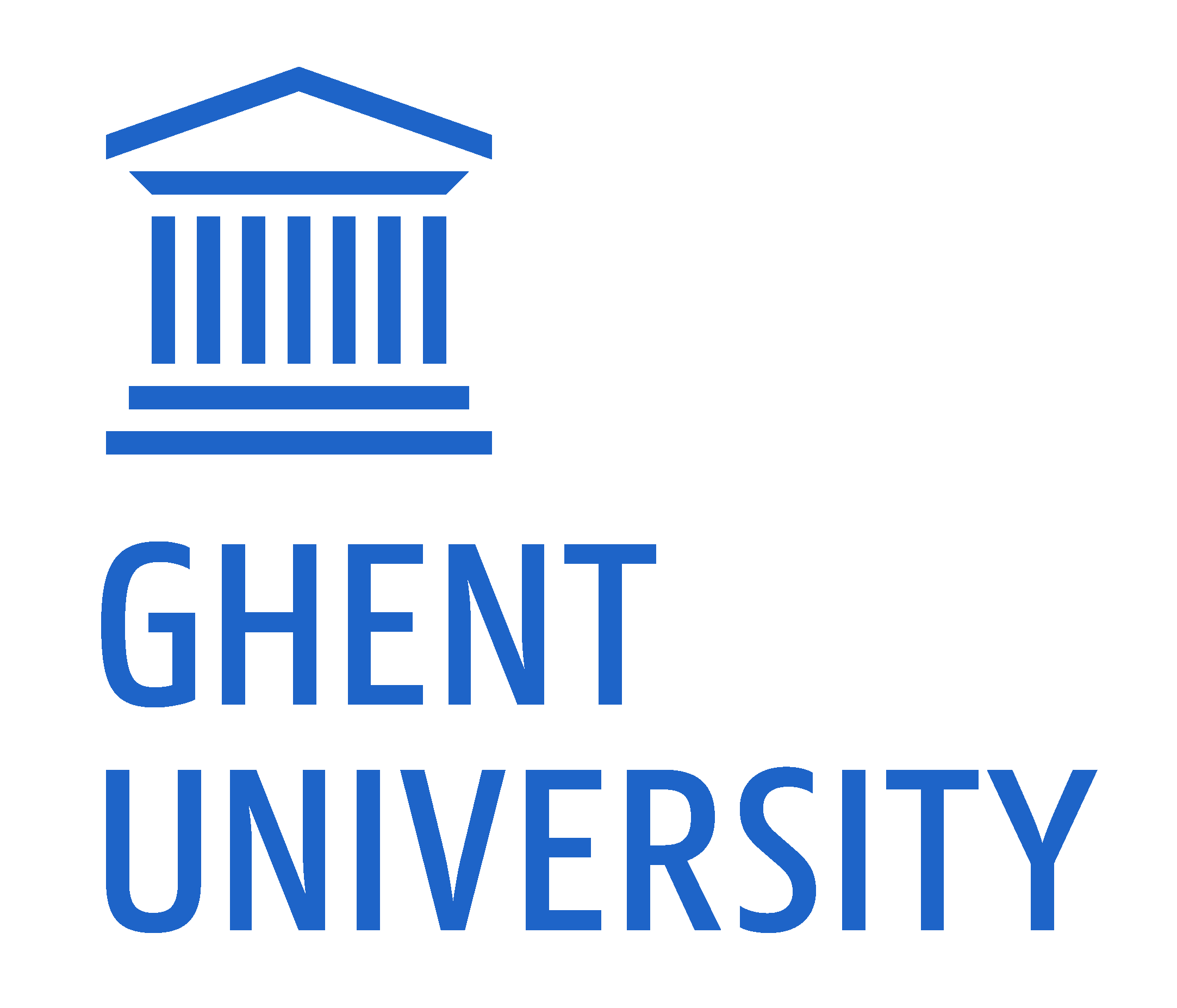 Logo UGent EN RGB 2400 color on white